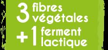 3 fibres végétales + 1 ferment lactique