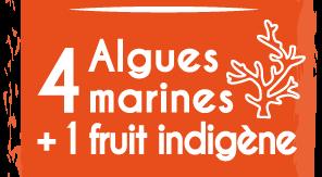 4 algues marines + 1 fruit indigène