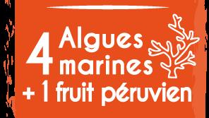 4 algues marines + 1 fruit péruvien