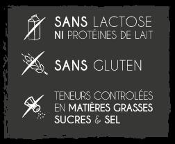 garanties Biodyne : sans gluten, sans lactose, sans sucres, sans sel, sans matières grasses