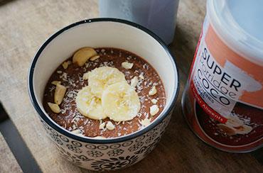 Porridge Coco Banane Cajou