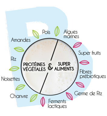 Le concept BIodyne = Protéines Végétales + Super Aliments