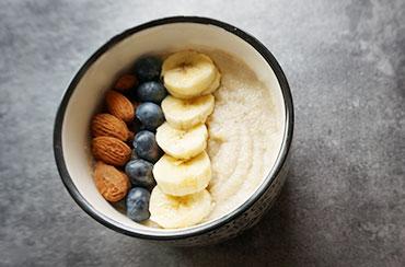 Porridge AMANDE - Banane Mytilles - SUPER Porridge AMANDE